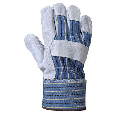 Leather Palm - Denim Back Gloves