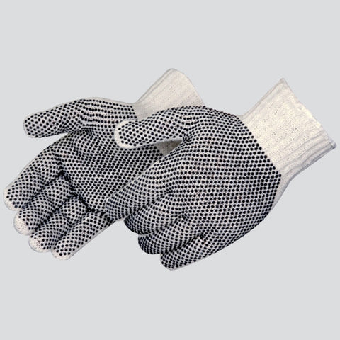 String Knit Cotton Gloves with PVC Dots (Double Sided)