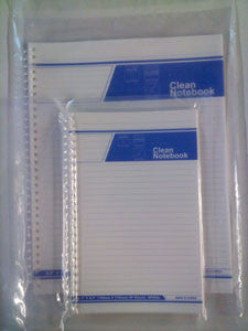 Cleanroom Notebook (Side Spiral Bound)