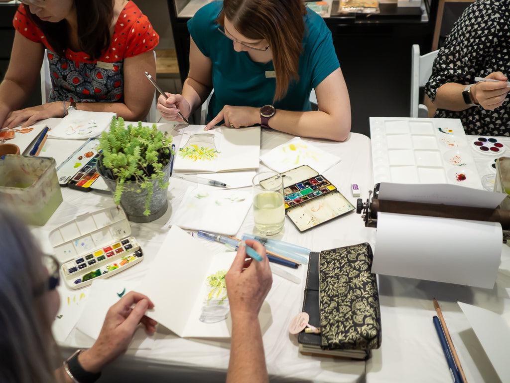 Watercolour Class at Standard Bindery