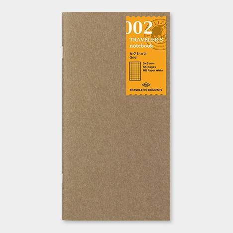 travelers notebook 002 Refill Grid - Regular Size