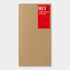 Travelers Notebook 003 Refill Blank - Regular Size