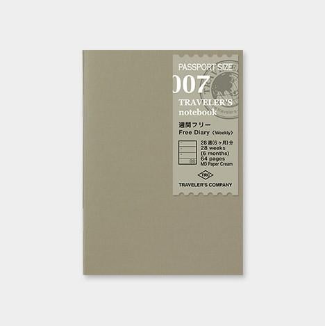 Travelers Notebook 007 Free Diary Weekly Passport