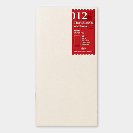 Travelers Notebook 012 Refill Sketch Paper - Regular