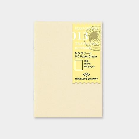 Travelers Notebook 013 Refill Cream Paper Blank - Passport Size