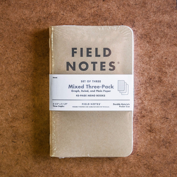 Field Notes -  Pack of 3 - Mixed Pack