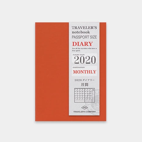 travelers notebook 2020 Monthly Diary - Passport