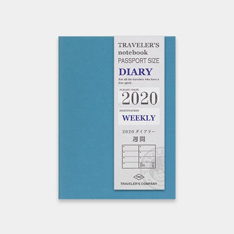 2020 Weekly Diary (2 Books) - Passport