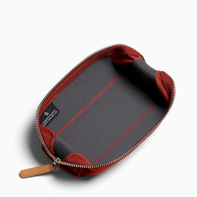 bellroy red ochre pen pencil case