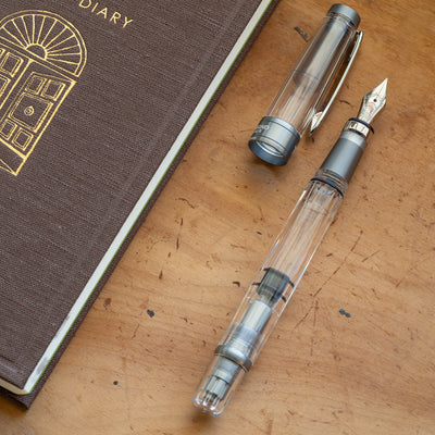 TWSBI Diamond 580ALR Fountain Pen - Nickel Grey - Extra Fine Nib