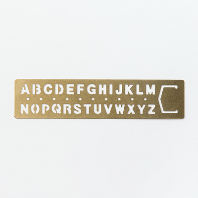 Travelers Company Brass Template Alphabet