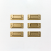 Brass Label Plates (Set of 6) by Midori