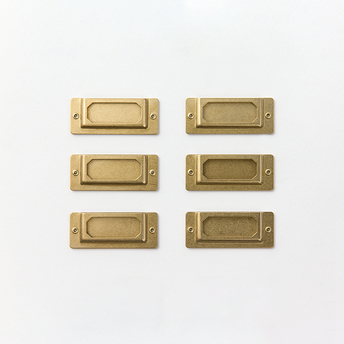 Brass Label Plates (Set of 6)