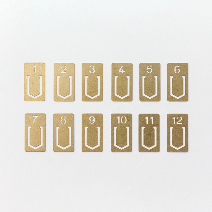 Brass Number Clips (set 12)