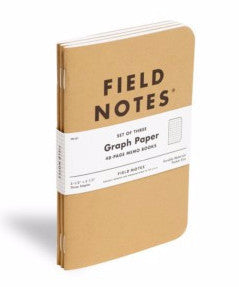 Field Notes -  Pack of 3 - Graph Paper