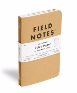 Field Notes - Pack of 3 - Ruled Paper