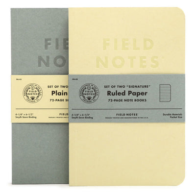 Field Notes Signature - Blank or Ruled Paper - Pack of 2