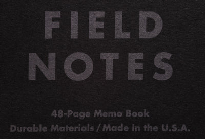 Field Notes Pitch Black Notebook Australia