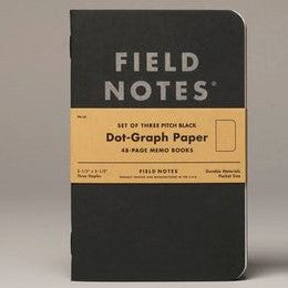 Field Notes Pitch Black Dot Graph Large Size