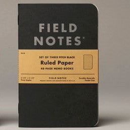 Field Notes Pitch Black Lined