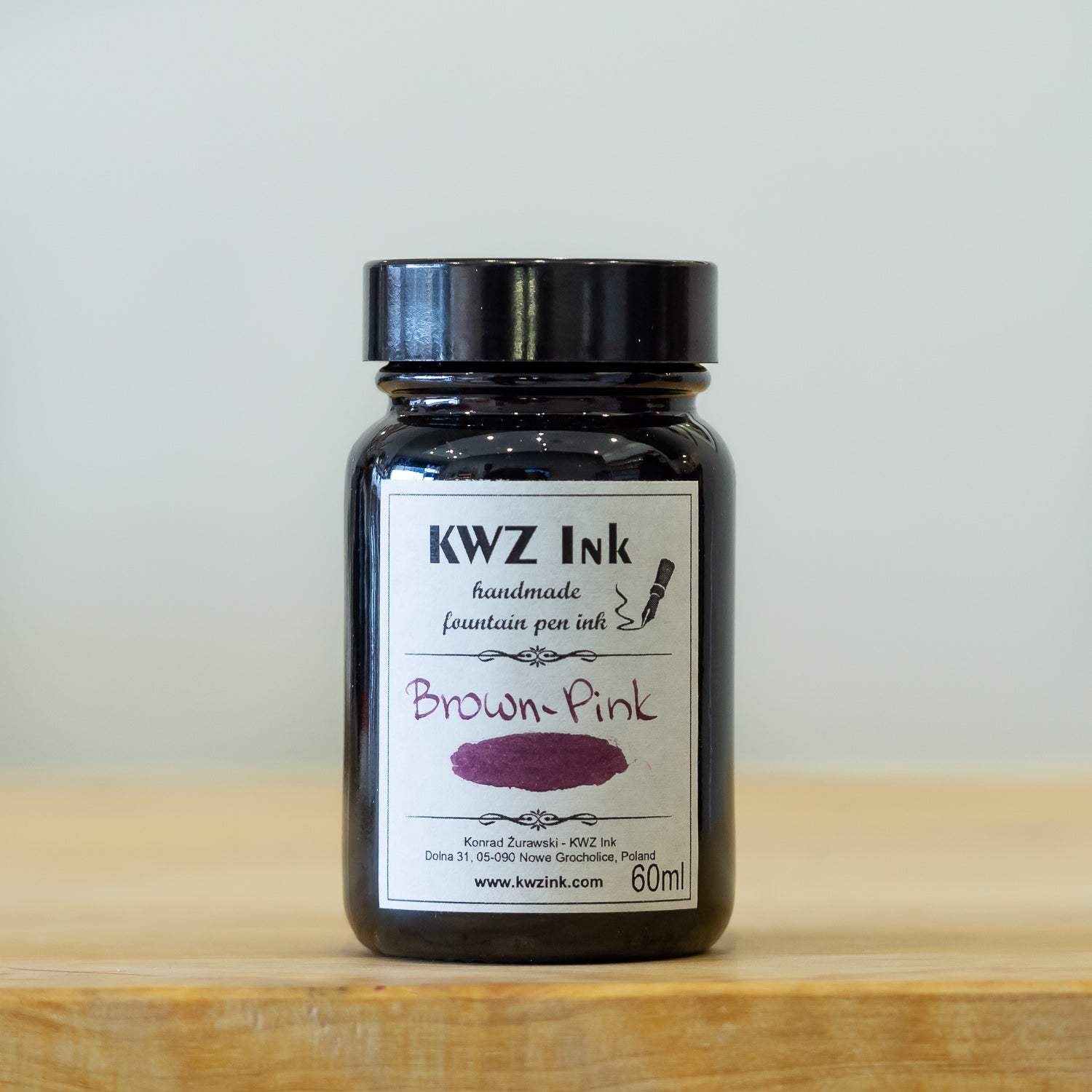 KWZ Brown Pink fountain pen ink