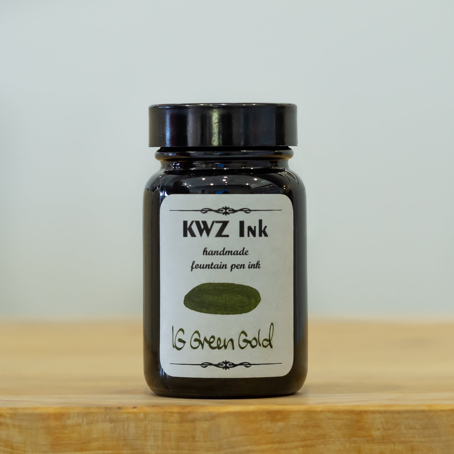 kwz green gold iron gall fountain pen ink