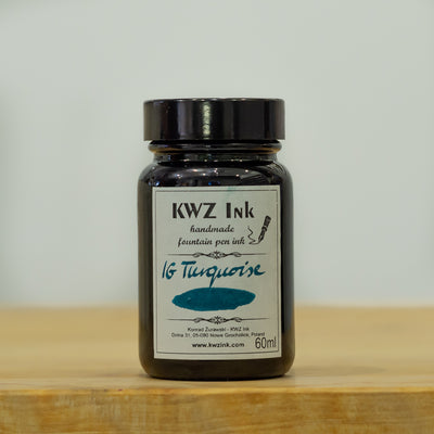 KWZ Iron Gall Turquoise fountain pen ink