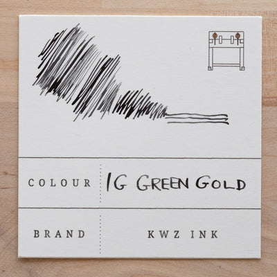 KWZ Iron Gall Green Gold Ink Swatch