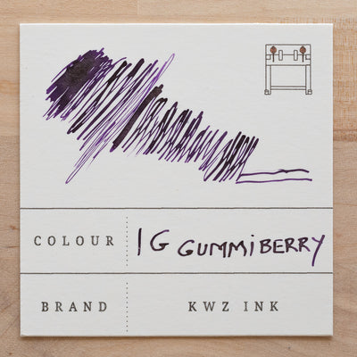 KWZ Iron Gall Gummiberry Ink Swatch