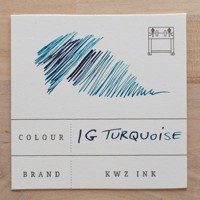 KWZ Iron Gall Turquoise Ink Swatch