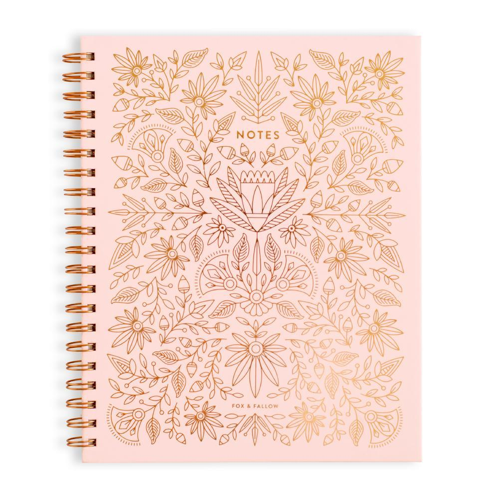 Fox and Fallow Rose Quartz Large Spiral Notebook