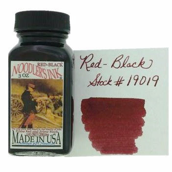 Red-Black Fountain Pen Ink 89ml (3oz)