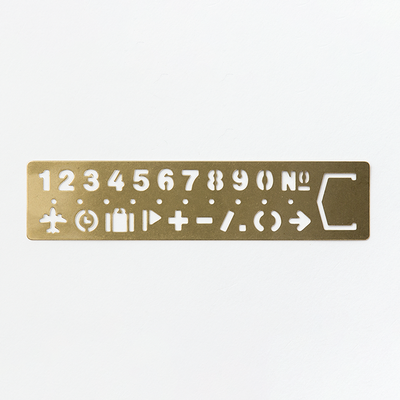 Travelers Brass Template Number