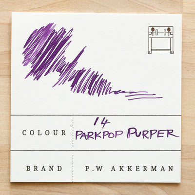 No. 14 Parkpop Purper 60ml Akkerman Ink Swatch