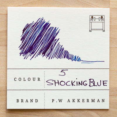 No. 5 Shocking Blue Akkerman Ink Swatch