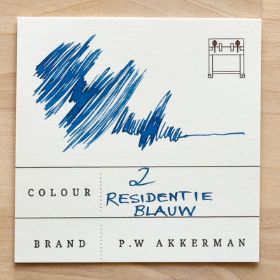 No. 2 Residentie Blauw Akkerman Ink Sample
