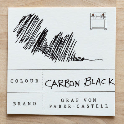 Carbon Black Fountain Pen Ink Swatch
