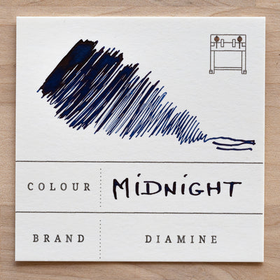 diamine midnight fountain pen ink swatch
