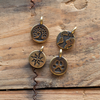 Metal Medallion - North Star - Antique Brass