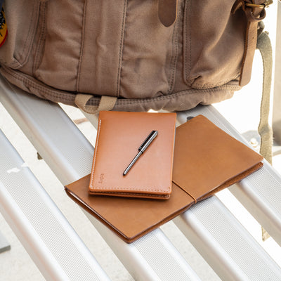 travel wallet and notebook