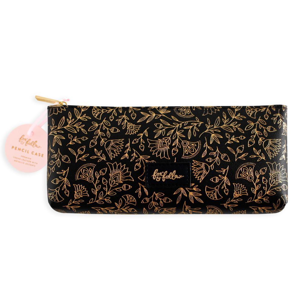 Fox & Fallow Pencil Case Obsidian Black & Gold