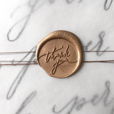 Wax Seal - Thank you - Stamptitude