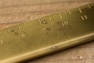 Aged Brass Ruler Travelers Comapny