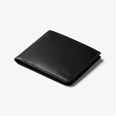The Square Leather Wallet - Black