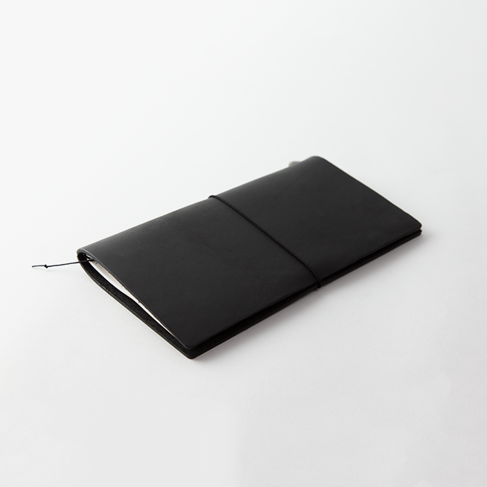 Traveler's Leather Notebook Starter Kit - Black - Regular