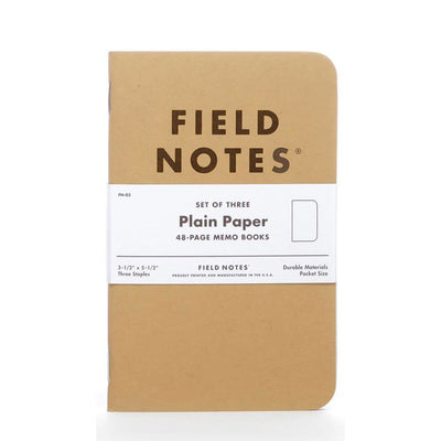 Field Notes Notebooks Pack of 3 Blank Paper