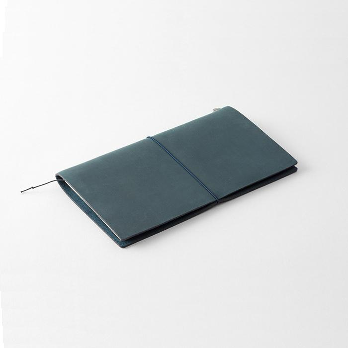 TRAVELER'S Leather Notebook Starter Kit - Blue - Regular