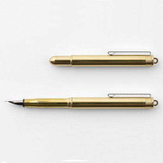 Traveler's Co Brass Bullet Fountain Pen Australia