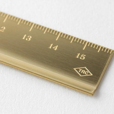 Travelers Company Brass Ruler