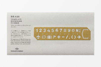 Travelers Brass Template Number packaging